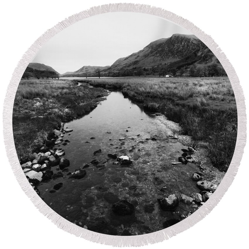Buttermere Round Beach Towel featuring the photograph Buttermere by Smart Aviation