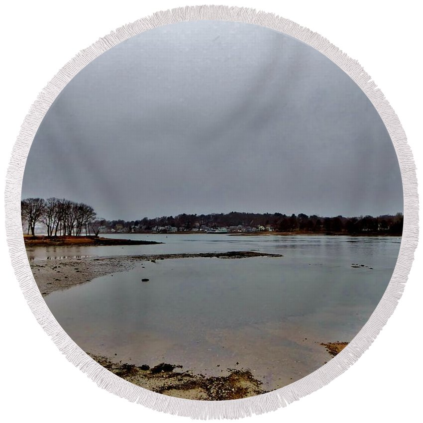 Round Beach Towel featuring the photograph South Terrace by Scott Hufford
