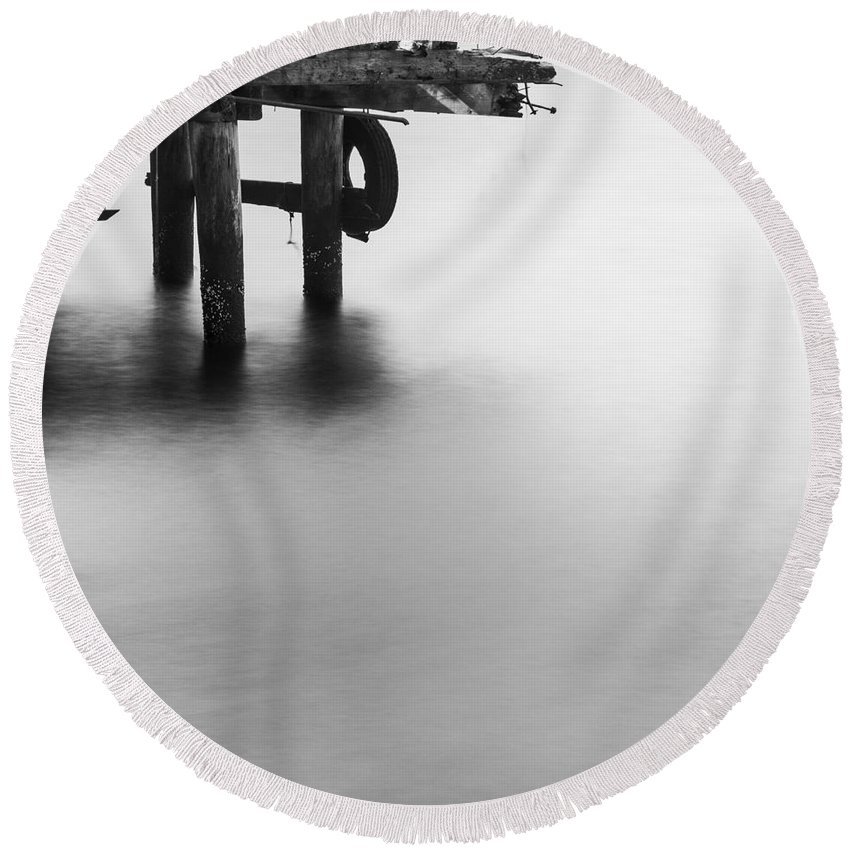 Art Round Beach Towel featuring the photograph The Test Of Time by Gunnar Orn Arnason