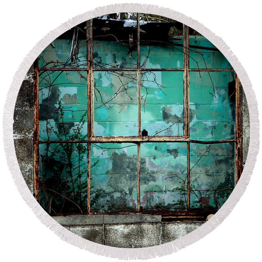 Windows Round Beach Towel featuring the photograph Window by Amanda Barcon