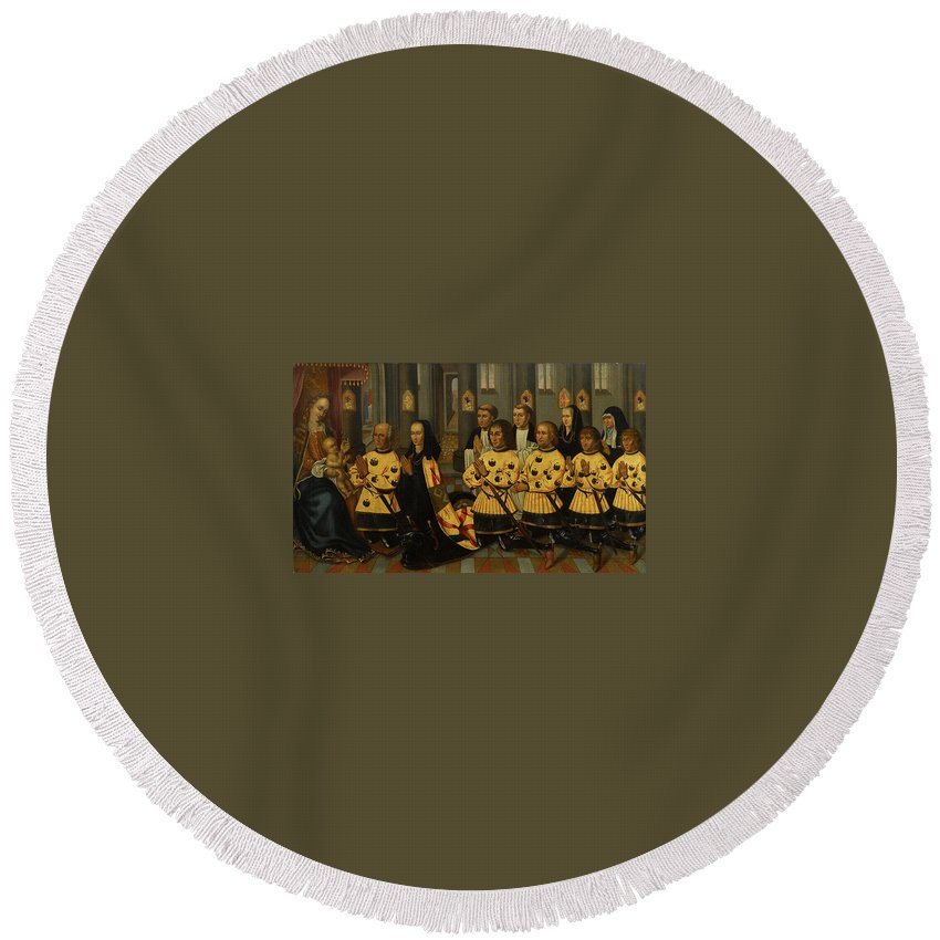 Flemish School (late 16th-early 17th Century) Wouter Van Der Noot Round Beach Towel featuring the painting Wouter Van Der Noot by MotionAge Designs