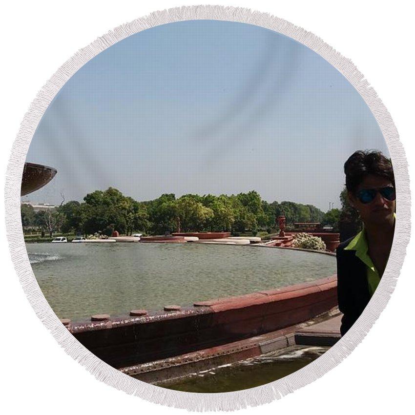 Harpal Singh Jadon Round Beach Towel featuring the photograph Harpal Singh Jadon by Harpal SIngh Jadon Jadon