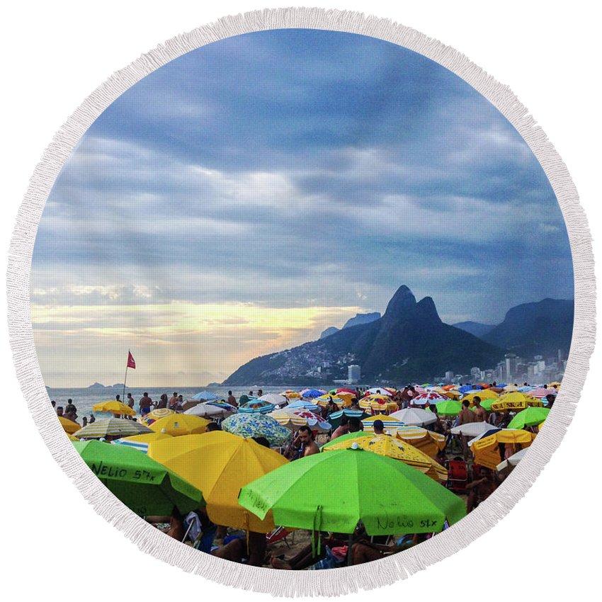 Mountain Round Beach Towel featuring the photograph Rio de Janeiro by Cesar Vieira