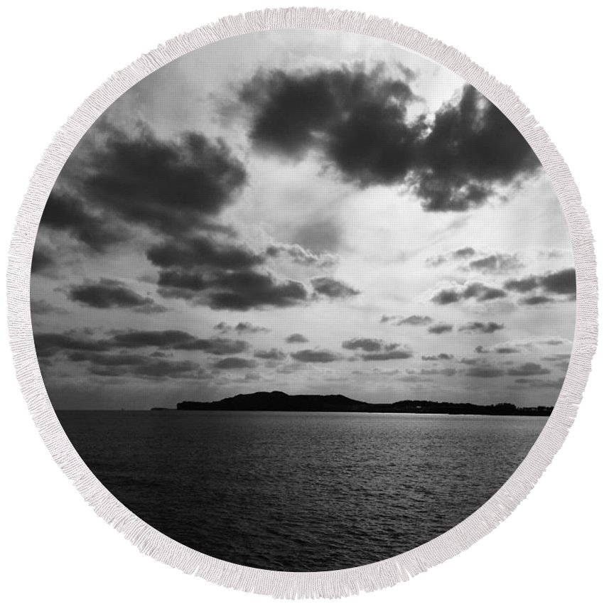 Sea Round Beach Towel featuring the photograph Sea by FL collection