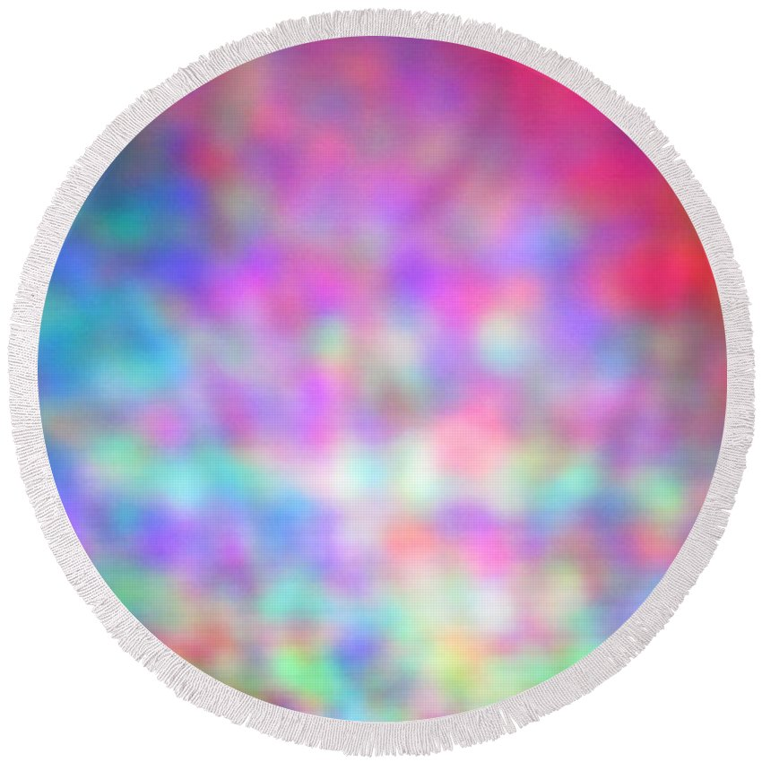 Abstract. Round Beach Towel featuring the photograph 4-16-18#19 by Mark Mulier