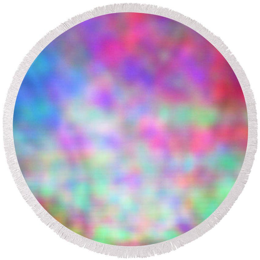 Abstract. Round Beach Towel featuring the photograph 4-16-18#21 by Mark Mulier