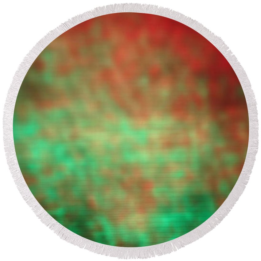 Abstract Round Beach Towel featuring the photograph 4-19-18#10 by Mark Mulier