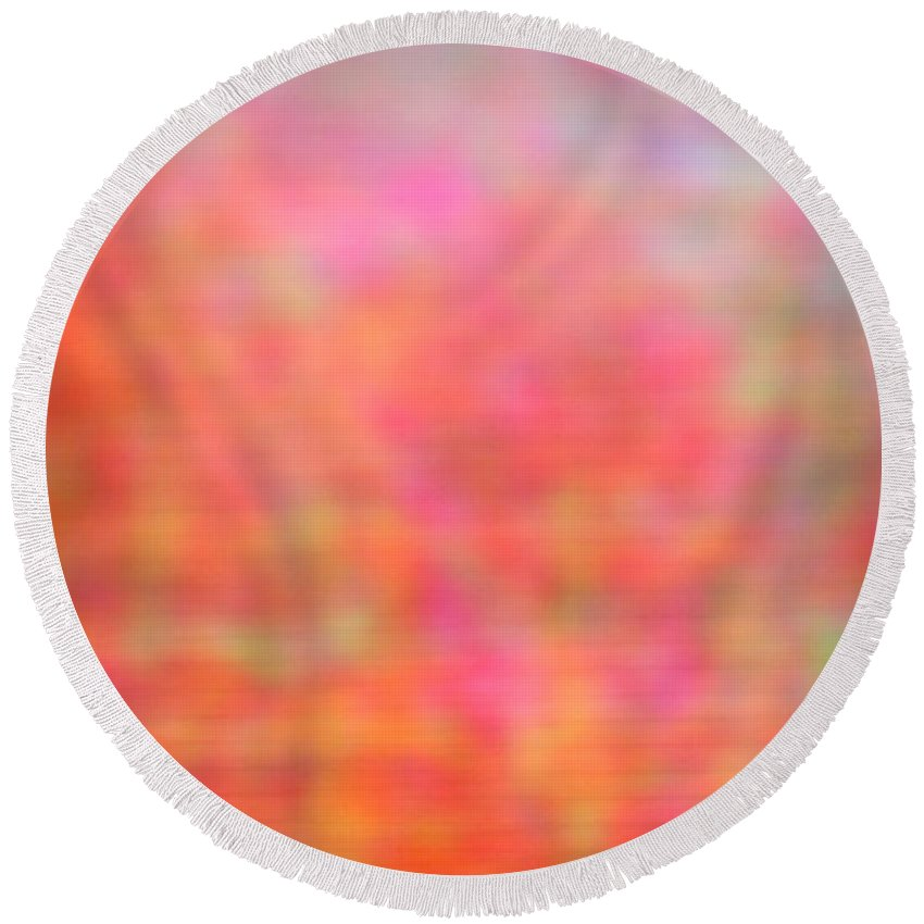 Abstract. Round Beach Towel featuring the photograph 4-19-18#14 by Mark Mulier