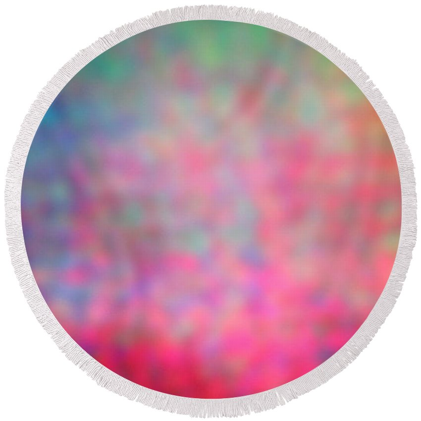 Abstract. Round Beach Towel featuring the photograph 4-19-18#15 by Mark Mulier