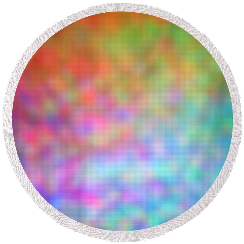 Abstract Round Beach Towel featuring the photograph 4-19-18#4 by Mark Mulier