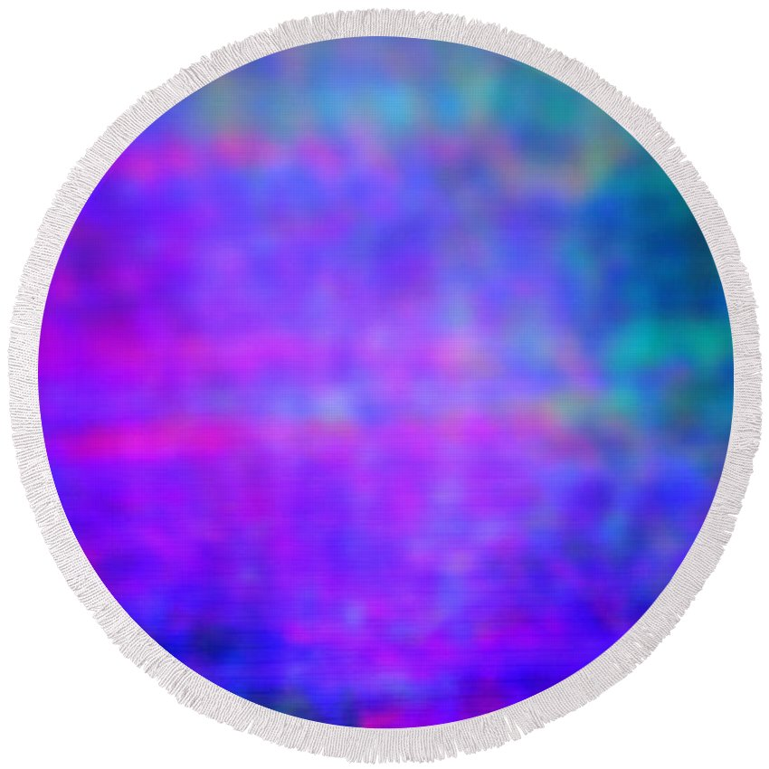 Abstract Round Beach Towel featuring the photograph 4-19-18#9 by Mark Mulier