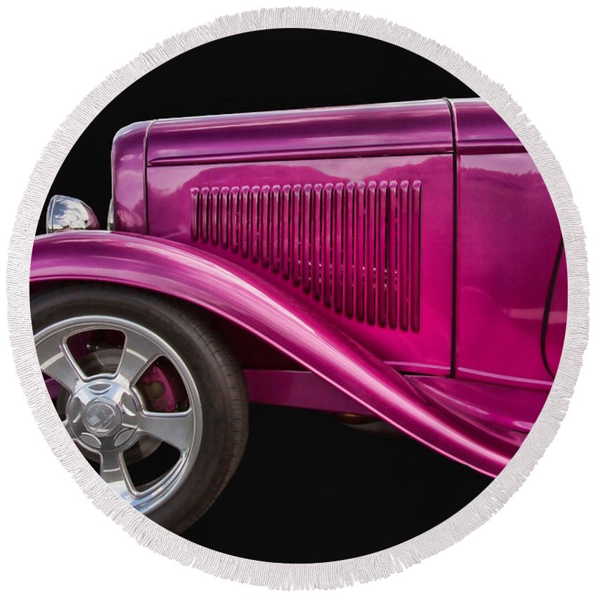 1932 Round Beach Towel featuring the photograph 1932 Ford Hot Rod by Nick Gray