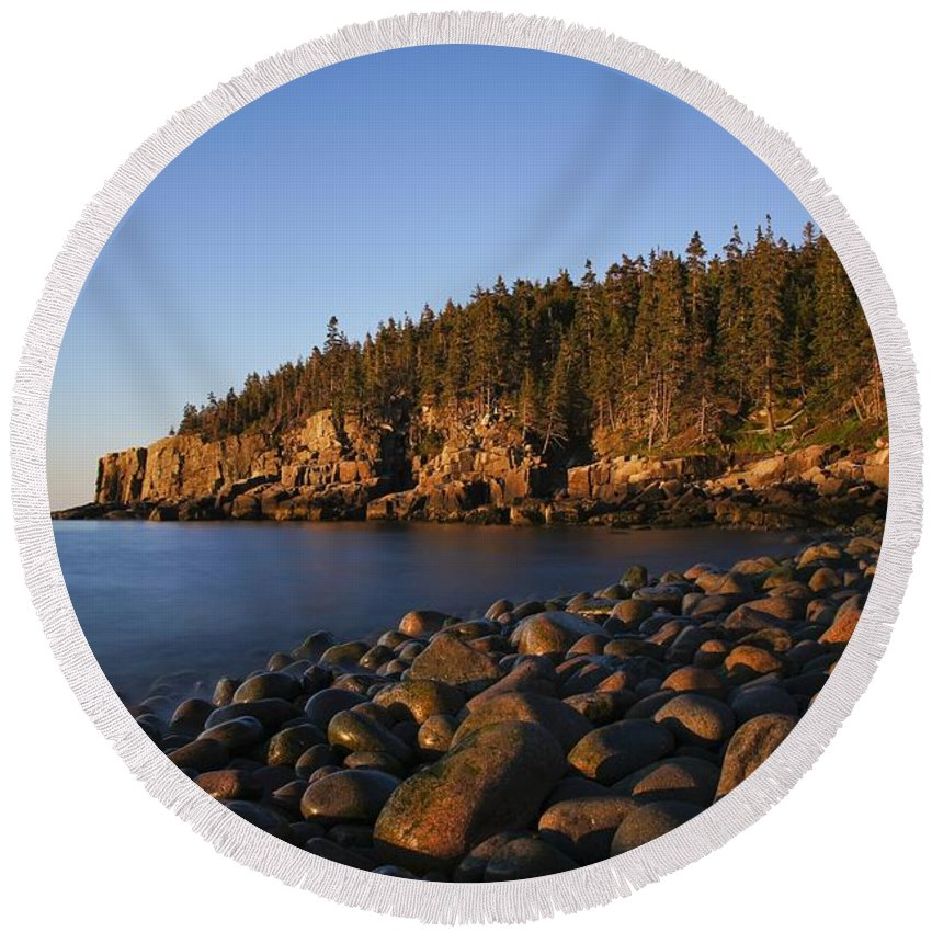 Acadia Round Beach Towel featuring the photograph Acadia National Park by Brian Kamprath
