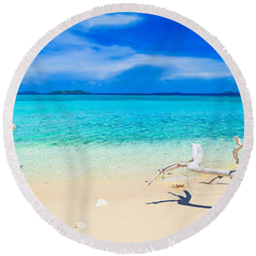 Philippines Photographs Round Beach Towels