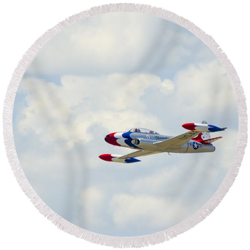 Round Beach Towel featuring the photograph 44 by Brian Jordan