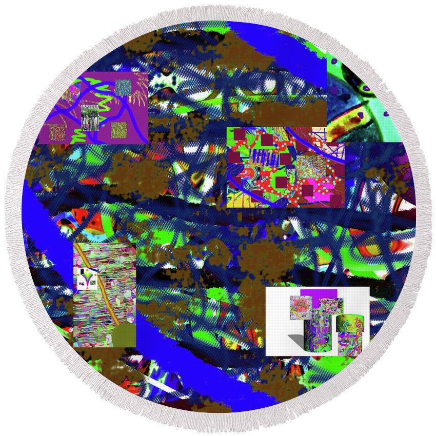 Walter Paul Bebirian Round Beach Towel featuring the digital art 5-12-2015cabcdefghijklmnopqrtuvwxy by Walter Paul Bebirian