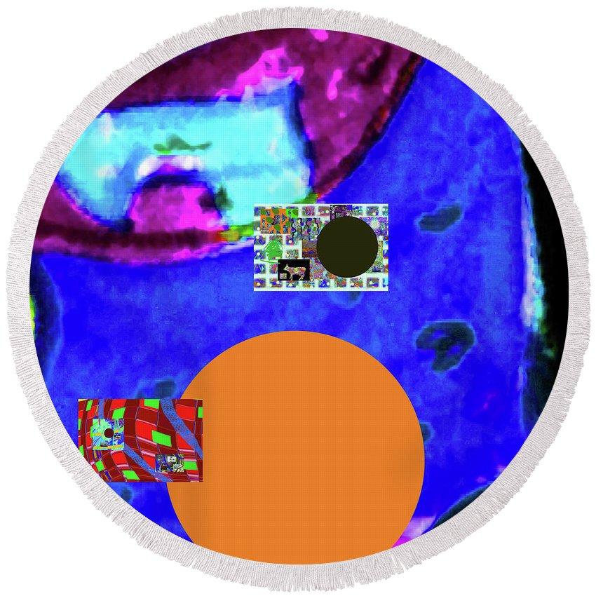 Walter Paul Bebirian Round Beach Towel featuring the digital art 5-24-2015cabcdefghijklm by Walter Paul Bebirian