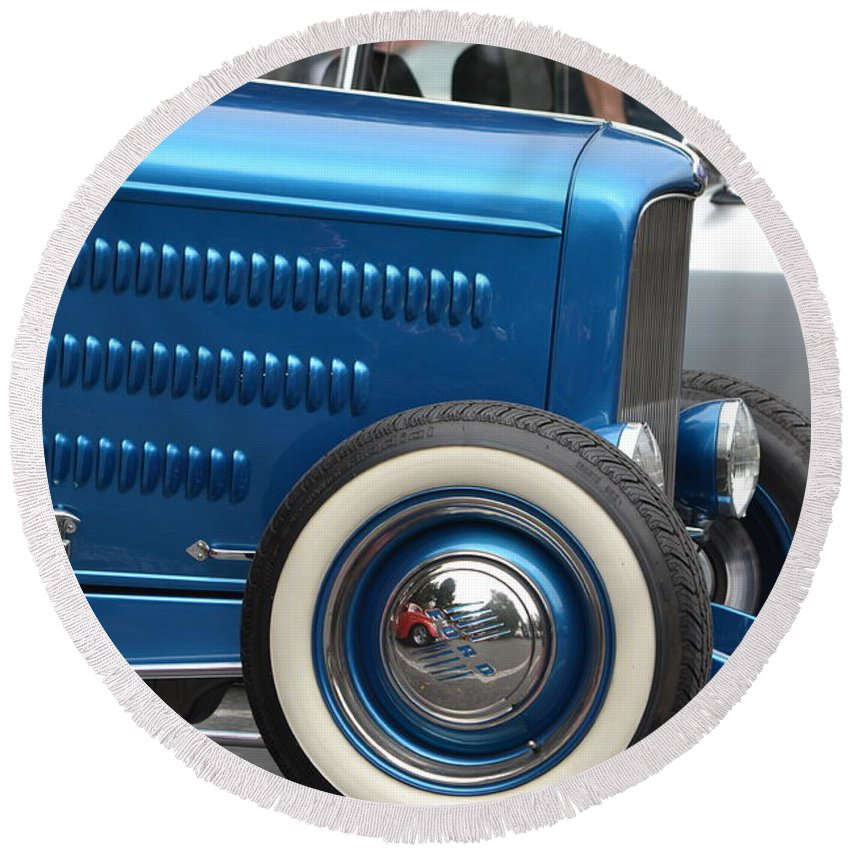 Round Beach Towel featuring the photograph Classic Ford by Dean Ferreira