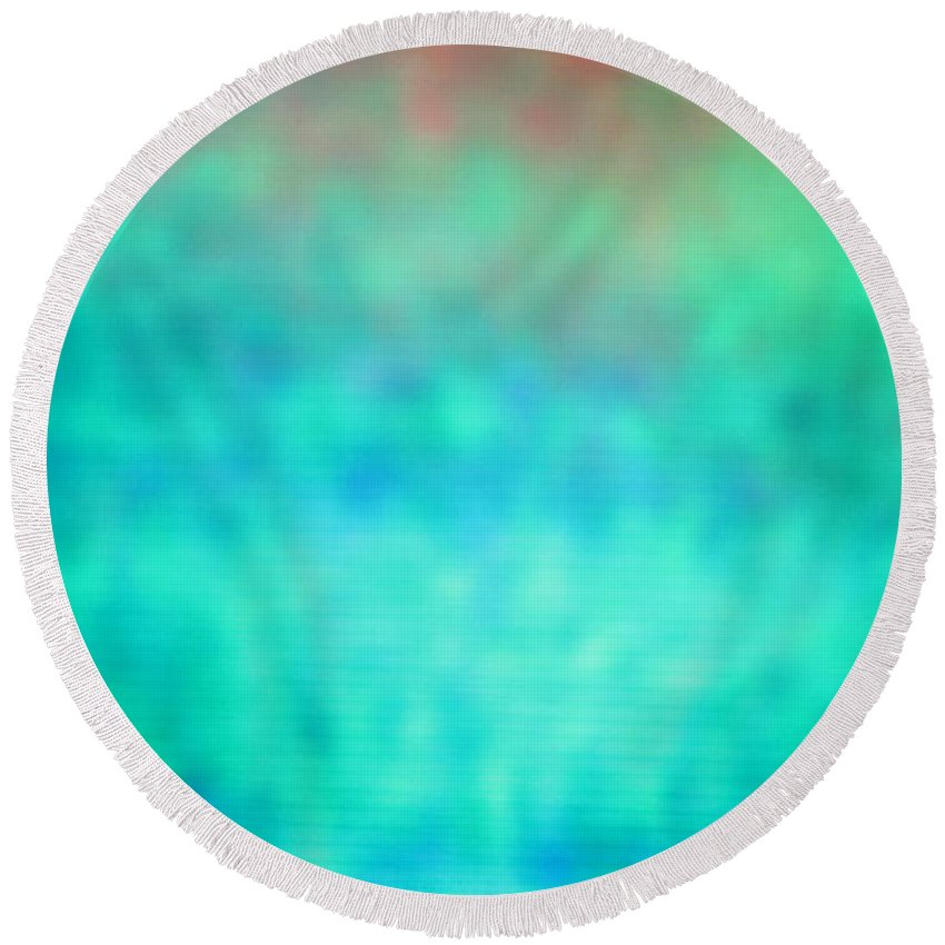 Abstract Series. Round Beach Towel featuring the photograph 5 Of 10 by Mark Mulier