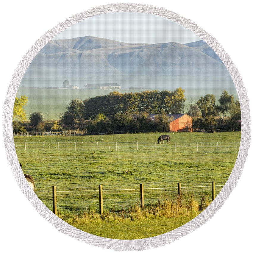Sony Round Beach Towel featuring the photograph Scottish Scenery by Jeremy Lavender Photography