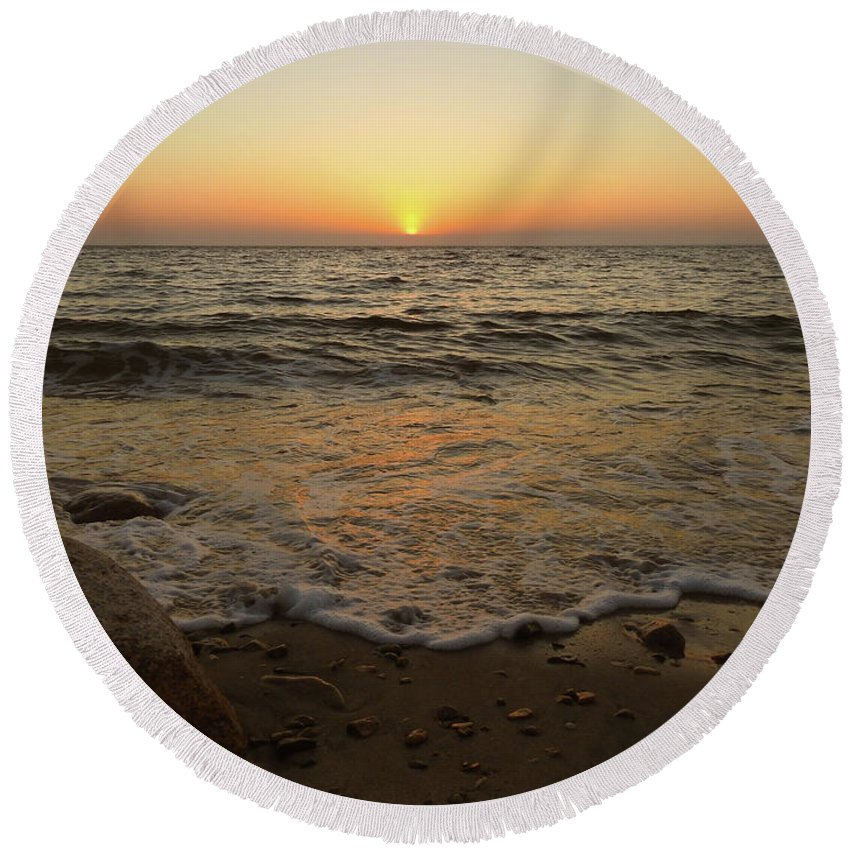 Don't Drop The Crystal Ball Round Beach Towel featuring the photograph 6-6-16--0576 Don't Drop The Crystal Ball by Vicki Hall
