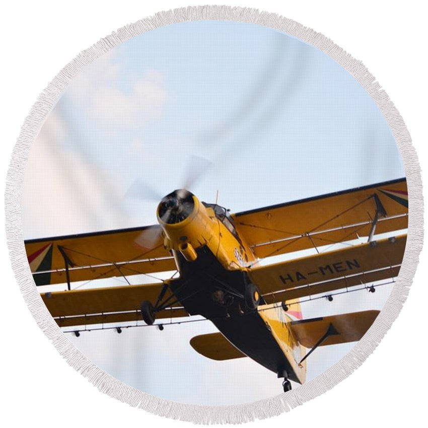 Aviation Round Beach Towel featuring the photograph Aircraft by FL collection