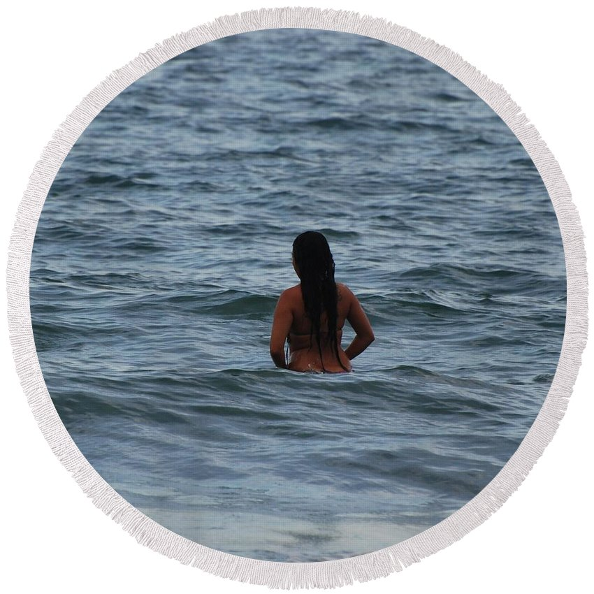 Sexy Round Beach Towel featuring the photograph Brazilian Beauty by Rob Hans