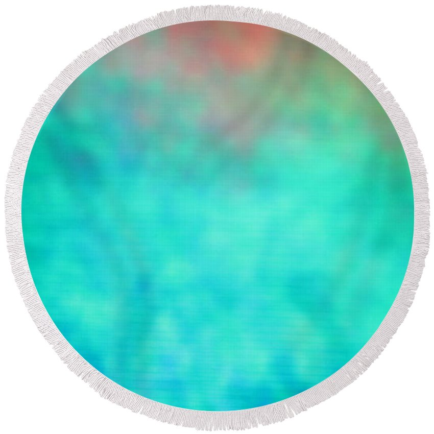 Abstract Series. Round Beach Towel featuring the photograph 6 Of 10 by Mark Mulier