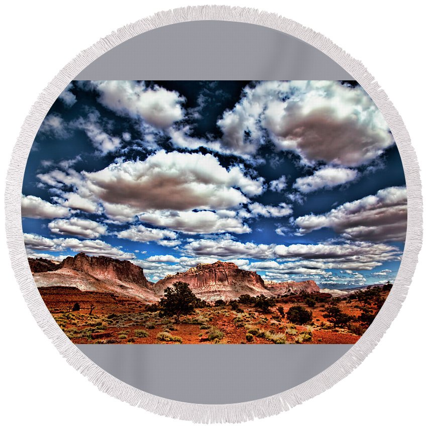 Capitol Reef National Park Round Beach Towel featuring the photograph Capitol Reef National Park by Mark Smith