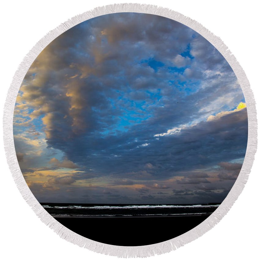 Round Beach Towel featuring the photograph My Private Beach by Angus Hooper Iii