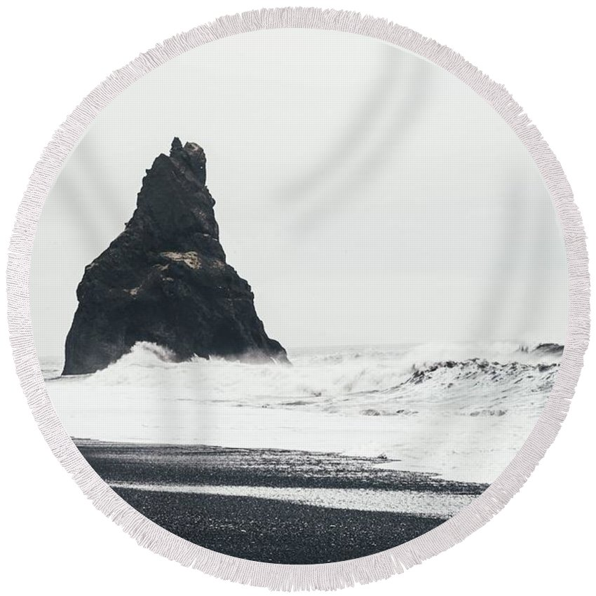 Beach Round Beach Towel featuring the photograph Ocean by FL Collection