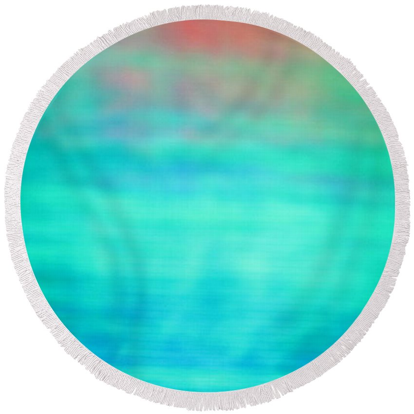 Abstract Series. Round Beach Towel featuring the photograph 8 Of 10 by Mark Mulier