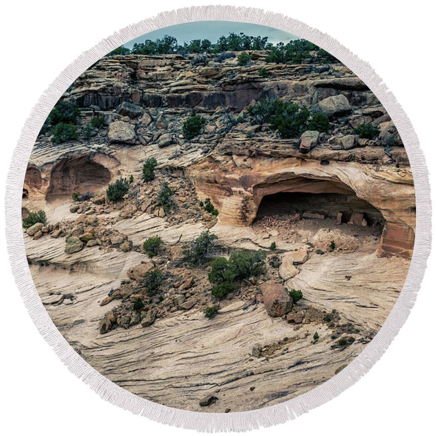Canyon De Chelly Round Beach Towel featuring the photograph Canyon De Chelly by Mike Penney