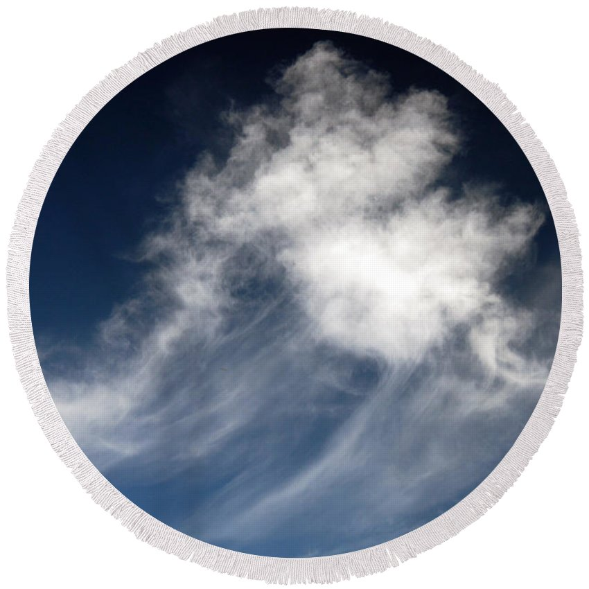 Clay Round Beach Towel featuring the photograph Clouds by Clayton Bruster