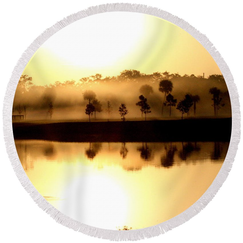 Wgilroy Round Beach Towel featuring the photograph Sunrise / Sunset / Indian River by W Gilroy