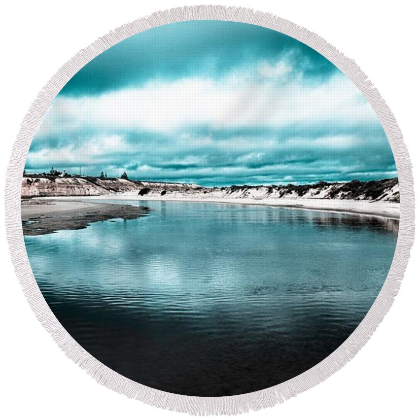 Stream Round Beach Towel featuring the photograph Water by FL collection