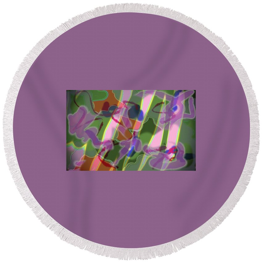 Jgyoungmd Round Beach Towel featuring the digital art 91654 by Jgyoungmd Aka John G Young MD