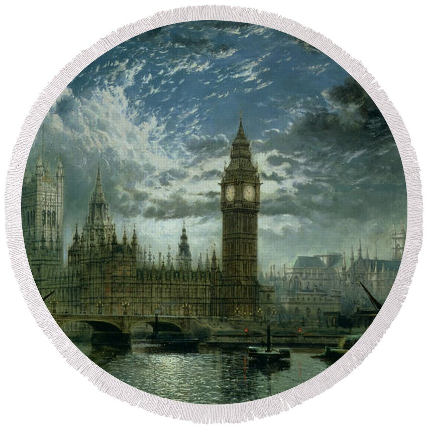 Westminster Abbey Round Beach Towels
