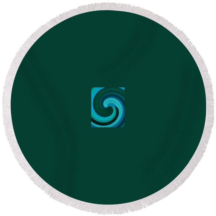 Continuious Round Beach Towel featuring the digital art A77 by Andrew Johnson