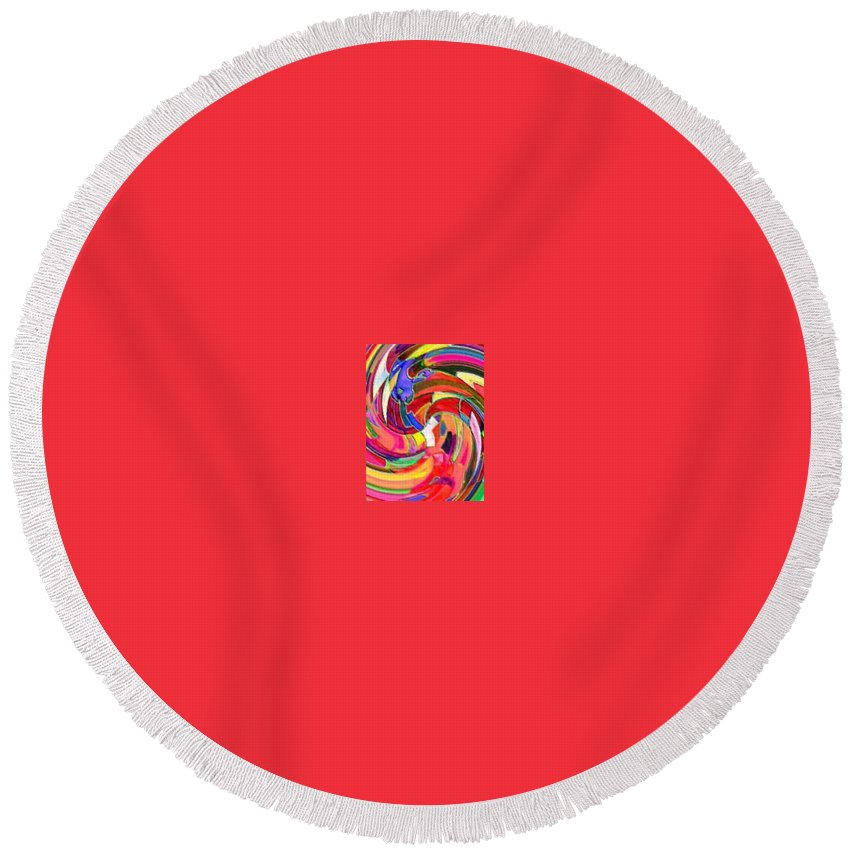 Digital Image Round Beach Towel featuring the digital art AB by Andrew Johnson