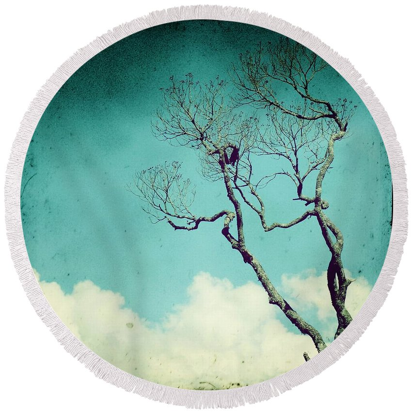 Forest Round Beach Towel featuring the photograph Above The Clouds by MingTa Li