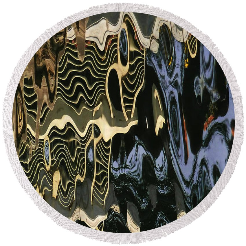 An Abstract Round Beach Towel featuring the photograph Abstract 13 by Xueling Zou
