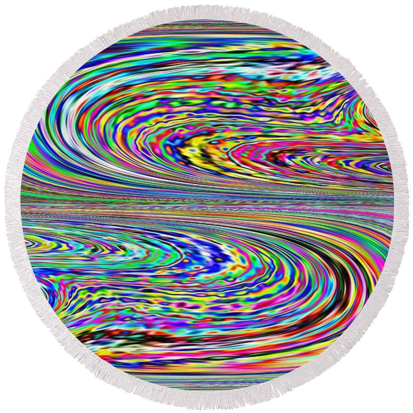 Abstract Round Beach Towel featuring the photograph Abstract 2 by Tim Allen