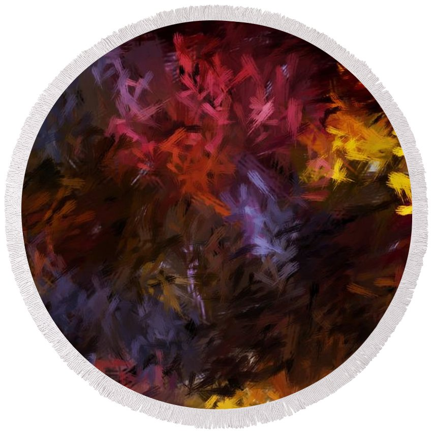Abstract Round Beach Towel featuring the digital art Abstract 5-23-09 by David Lane
