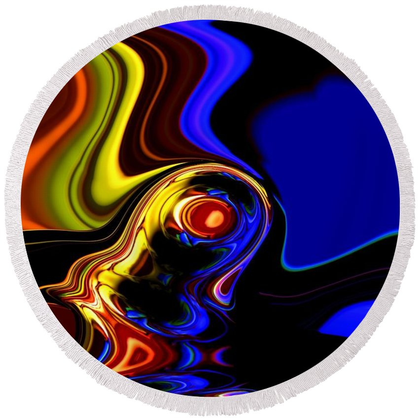 Abstract Round Beach Towel featuring the digital art Abstract 7-26-09 by David Lane