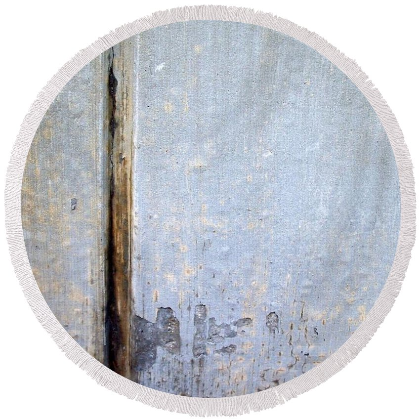 Industrial. Urban Round Beach Towel featuring the photograph Abstract Concrete 19 by Anita Burgermeister