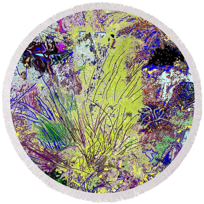 Abstract Round Beach Towel featuring the photograph Abstract Musings by Ian MacDonald