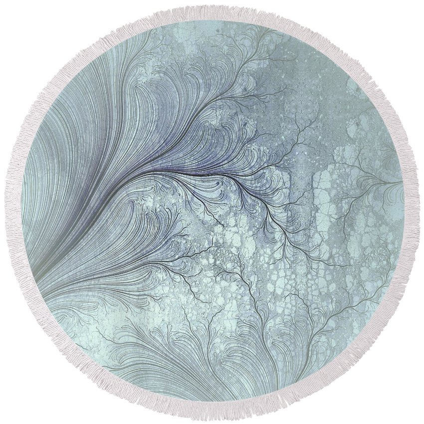 Robert Kernodle Digital Abstracts Round Beach Towel featuring the digital art Abstract No 21 by Robert G Kernodle