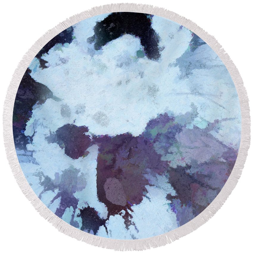 Surreal Round Beach Towel featuring the digital art Abstraction #35 by Kim Curinga