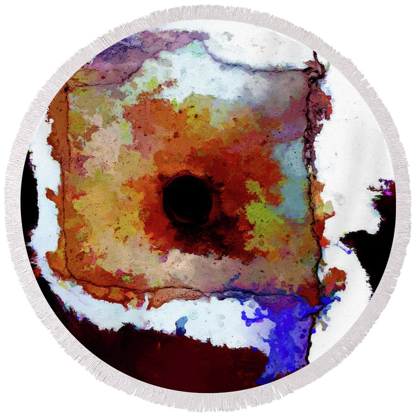 Surreal Round Beach Towel featuring the digital art Abstraction #39 by Kim Curinga